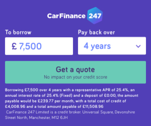 Car Finance 247 advert