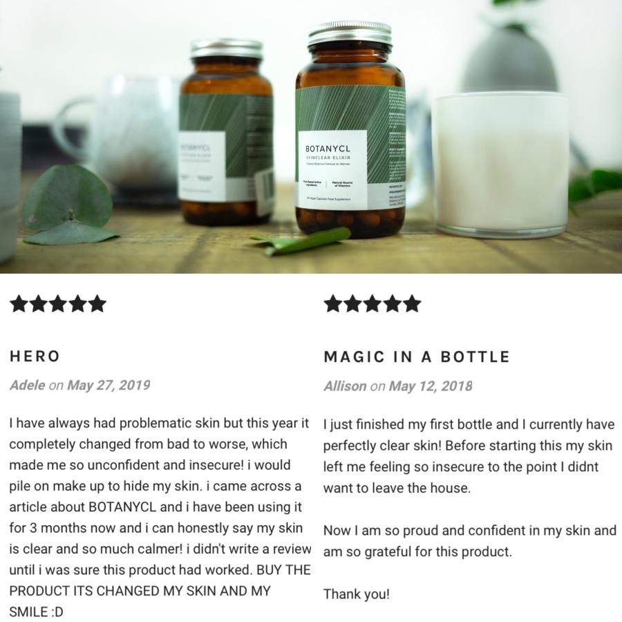 Botanycl SkinClear Elixir natural, vegan, plant-based skincare