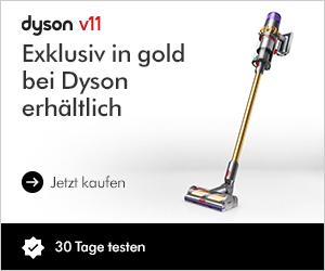 Dyson V11 exklusiv in Gold bei Dyson erhältlich