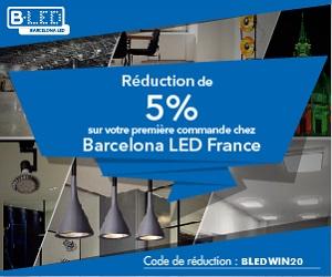 code promo barcelona LED