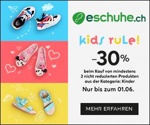 30% Rabatt auf Kinderschuhe beim Kauf von mindestens 2 nicht reduzierten Artikeln