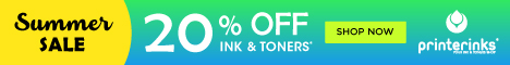 Ink and toners 20% OFF