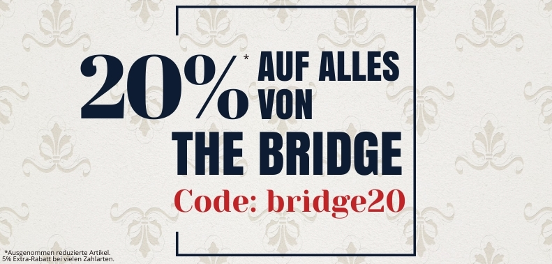 20% + 5%* Rabatt The BRIDGE kofferworld
