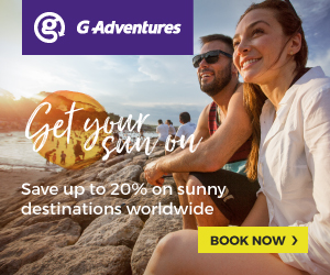 G Adventures Get Your Sun On ends 31 Mar
