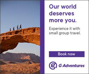 travelers exploring desert