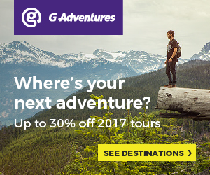 G Adventures up to 30% off selected 2017 Tours