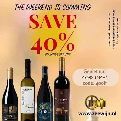 Dit weekend wijnen met 40% korting