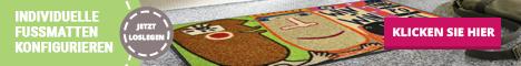 Fußmatten individuell gefertigt bei Fussmattenwelt im Online Shop