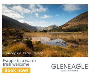 Escape to a warm Irish Welcome in Killarney, County Kerry