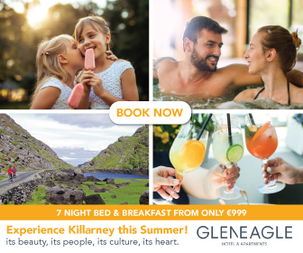 The leading Family Breaks and Entertainment hotel in Killarney. The Gleneagle Hotel is Ireland's most popular leisure & entertainment destination, and it's easy to see why.