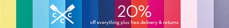 20% OFF everything plus FREE delivery and returns