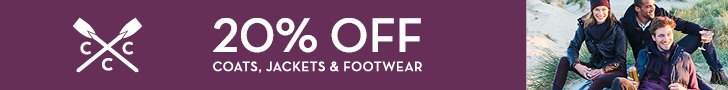 20% off coats jackets and footwear