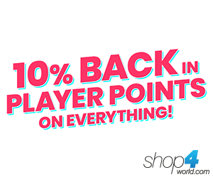 10% back in Player Points on EVERYTHING