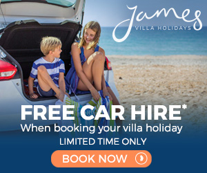 James Villas sale: FREE car hire, travel insurance & welcome pack