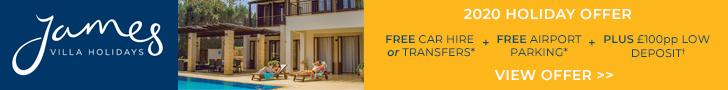 James Villas sale: FREE car hire & airport parking