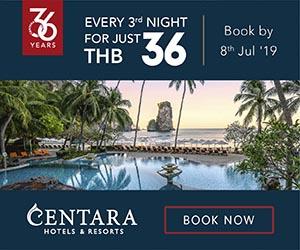 Cadeau dans l'hôtel 5 étoiles Central Plaza Hotel grand beach resort