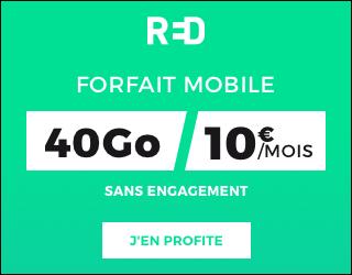 Forfait Red by SFR 100 Go jusqu'au 27 juillet 2021