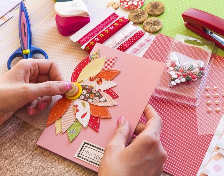 An image of a card being Hand Made