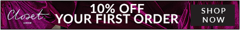 10% off your first order with newsletter signup at Closet London