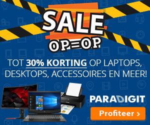 Sale Laptops, desktops en meer bij Paradigit korting tot 30%