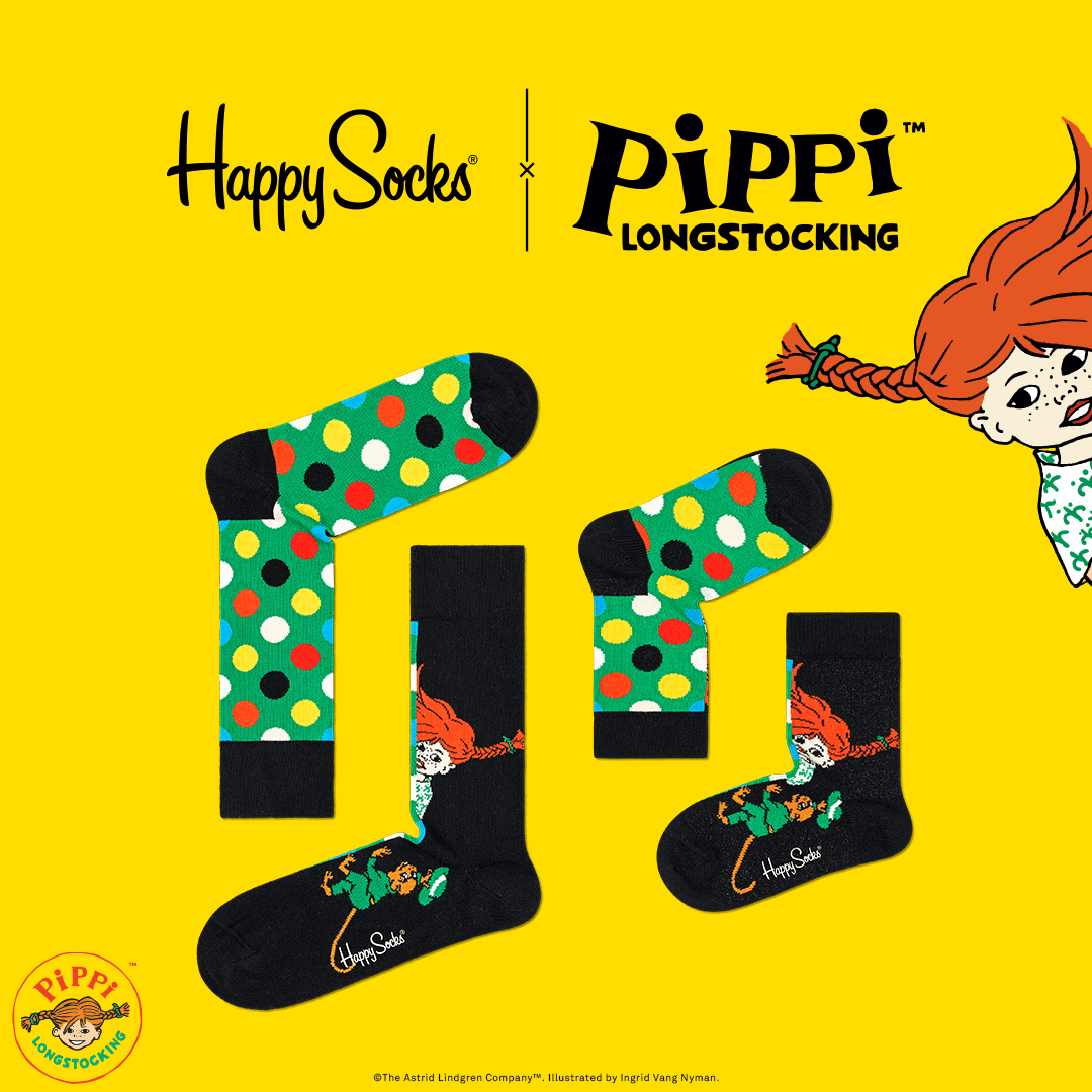 Happy Socks x Pippi Longstocking special edition