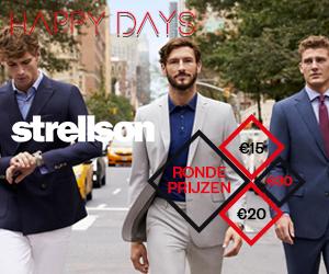 happy days van Strellson herenkleding aan ronde prijzen vanaf €15. Nog geldig tot en met 12/06