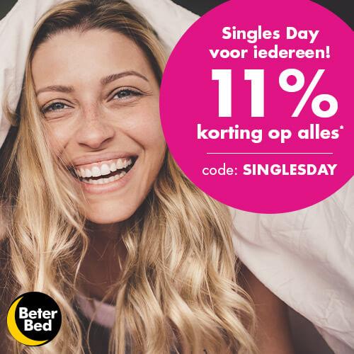 Beterbed Singles day voor iedereen 11% korting op alles