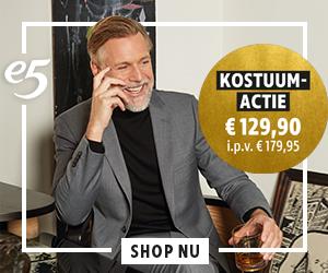 e5 Kostuum-actie van € 179,95 voor € 129,90