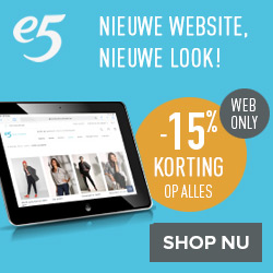 E5 web only 15% korting op alles