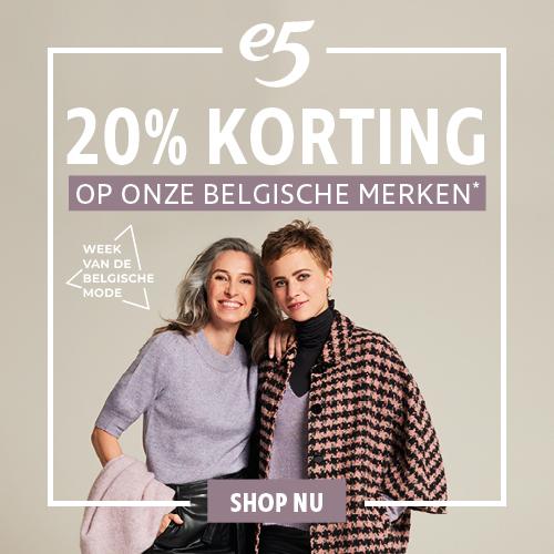 20% korting op onze Belgische modemerken