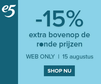 Web only actie - 15% extra korting bovenop de ronde prijzen