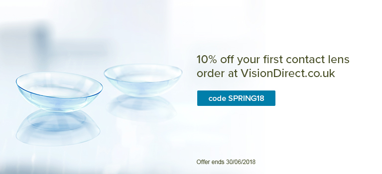 10% off your first contact lens order at VisionDirect.co.uk
