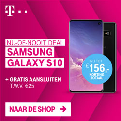 Samsung Galaxy S10 nu-of-nooit deal tot € 156,- korting | T-mobile