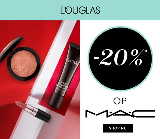 Douglas 20% korting op Mac