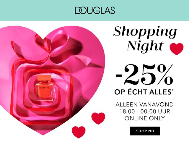 ❤Douglas Shopping Night ❤ 25% korting op echt alles