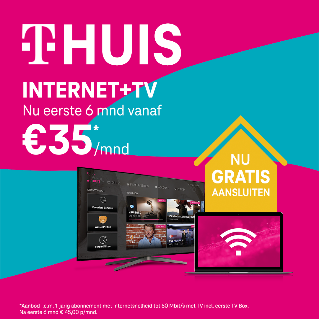 Internet + TV: GOGOGO Deals - 2P - Geen aansluitkosten en 6 maanden korting