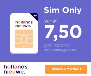 Hollandsnieuwe Sim Only vanaf € 7,50