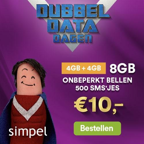 5 GB + onbeperkt bellen + 500sms €10,-