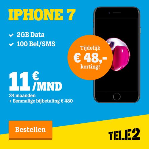 Iphone 7 tijdelijk €48,-  korting