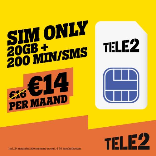 Tele2 De beste Deal - Sim Only