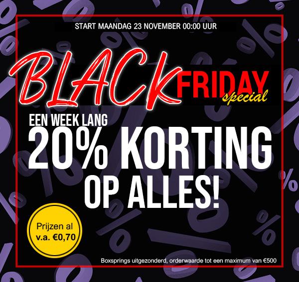 Black Friday Special - 20% Korting op alles! Fine2sleep
