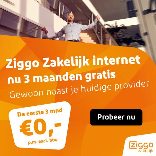 Ziggo Zakelijk 3 maanden gratis.
