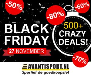Meer dan 500 Crazy deals op Black Friday bij Avantisport