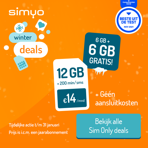 Sim Only abonnement van Simyo