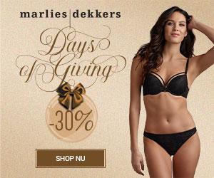 Days of Giving | 30% korting bij Marlies | Dekker