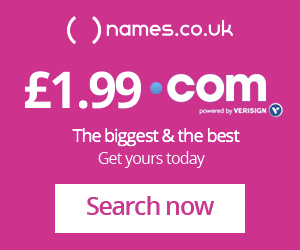 Names.co.uk domain names advertising banner
