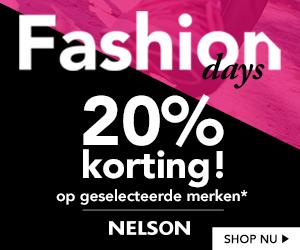 Fashion days 20% off bij Nelson!