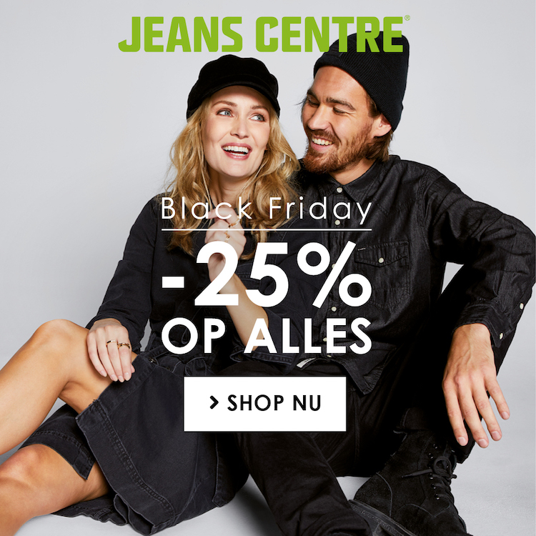 Black Friday bij Jeans Centre | 25% op alles!