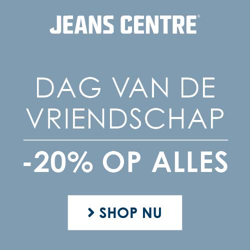 Dag van de Vriendschap 2020 bij Jeans Centre 20% korting op alles