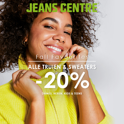 20% korting op alle truien, sweaters en hoodies | Fall Favourites